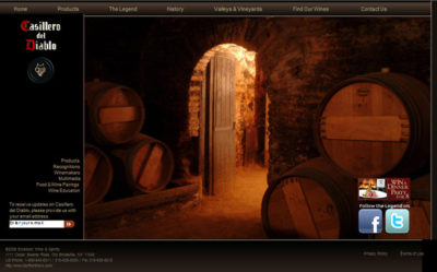 Casillero del Diablo Website