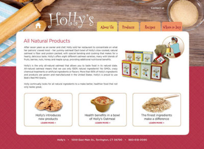 Holly's Oatmeal Website