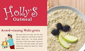 Holly's Oatmeal Sell Sheet